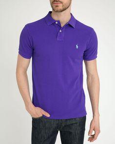 40% OFF | POLO Ralph Lauren, Vibrant Purple Slim-Fit Polo Shirt