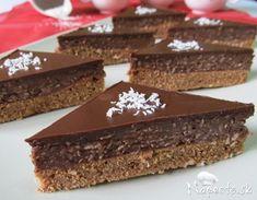 Kokosovo-pudingové rezy High Sugar, Czech Recipes, Arabic Food, Pavlova, Chocolate, Nutella, Baked Goods, Sweet Recipes, Ham