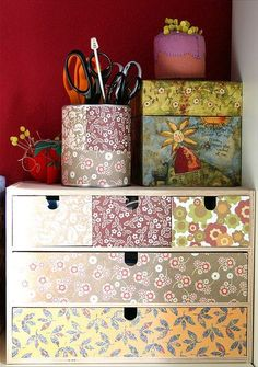 ! My Sewing Room, Sewing Rooms, Sewing Room Organization, Organisation Ideas, Ikea Boxes, Sewing Crafts, Diy Crafts, Sewing Table, Craft Storage