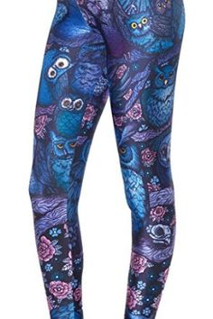 Roseate Women's 3D Pattern Leggings Fitted Pants Gym Workout Running Tights 104