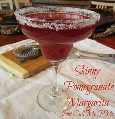 Skinny Pomegranate Margarita - Save calories where you can this holiday season! #cocktails #margaritas  from www.callmepmc.com