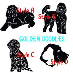 Golden Doodle decal designs