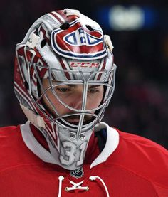 MONTREAL, QC - MARCH Carey Price of the Montreal Canadiens during the NHL game against the Ottawa Senators at the Bell Centre on March 2017 in Montreal, Quebec, Canada. (Photo by Francois Lacasse/NHLI via Getty Images) Hockey Helmet, Hockey Goalie, Hockey Teams, Hockey Players, Football Helmets, Hockey Stuff, Montreal Canadiens, Montreal Quebec, Goalie Mask