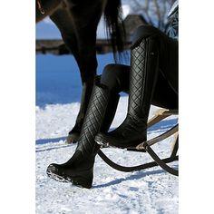 Suedwind half CHAP Comfort fit negro Chaps botas caña Caña botas de cuero