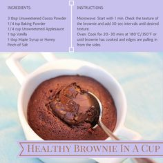 Healthy Brownie In A Cup [RECIPE] + Personal Updates | Ready Set Happy
