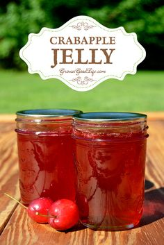 Transform the tart flavor of crabapples into a delicious homemade crabapple jelly. Crabapples have enough natural pectin, so no additional pectin is needed for this crabapple jelly recipe.