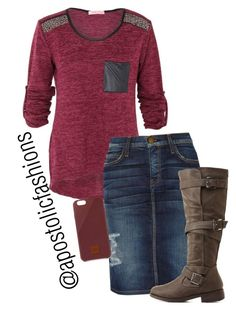 """Apostolic Fashions #1028"" by apostolicfashions on Polyvore featuring Current/Elliott, Charlotte Russe, Native Union, women's clothing, women's fashion, women, female, woman, misses and juniors"