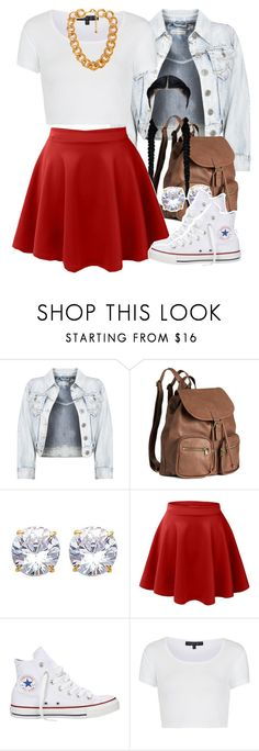 """""""Untitled #1368"""" by lulu-foreva ❤ liked on Polyvore featuring H&M, LE3NO, Converse, Topshop and Forever 21"""