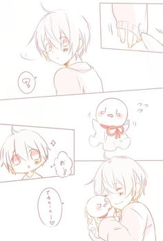 Mafumafu and Mafuteru (hug hug) Kawaii Chibi, Cute Chibi, Kawaii Cute, Anime Chibi, Kawaii Anime, Anime Art, Vocaloid, Neko, Drawing Sketches