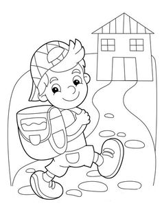 Boy Coloring Pages for Kids - Boy Coloring Pages for Kids , Anime Girl and Boy Drawing at Getdrawings School Coloring Pages, Coloring Sheets For Kids, Cartoon Coloring Pages, Colouring Pages, Coloring Books, Art Drawings For Kids, Drawing For Kids, Art For Kids, Colegio Ideas