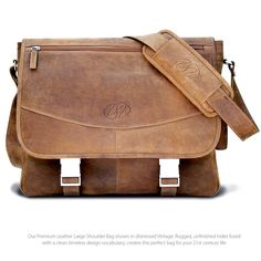 The Premium Leather Messenger Bag by MacCase