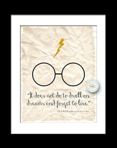 Harry Potter Quote Inspired Art Print 8x10  (135AOWD) The Sorcerers Stone. $15.00, via Etsy.