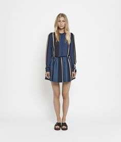 Voire skirt aop 5660 , TRIPLE STRIPE | www.samsoe.com Dresses With Sleeves, Long Sleeve, Skirts, Xmas, Women, Fashion, Moda, Sleeve Dresses, Weihnachten
