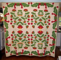Antique Applique Quilt 1850's