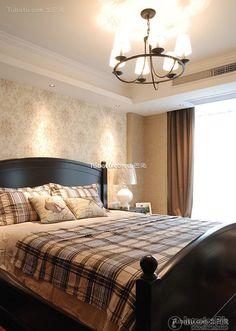 Simple European bedroom decoration design effect picture 2015