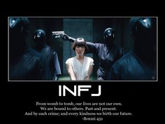 Sonmi from Cloud Atlas. Myers Briggs Personality Types, Infj Personality, Infj Mbti, Introvert, Mantra, Infj Type, Thing 1, Feelings, Wisdom