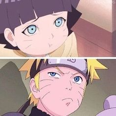 Naruto y Himawari Naruto And Sasuke, Anime Naruto, Neji E Tenten, Naruto Comic, Naruto Uzumaki Shippuden, Sarada Uchiha, Naruto Cute, Otaku Anime, Kakashi