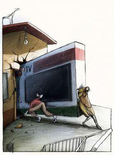 Гениални иронични карикатури, осмиващи човешката природа | High View Art