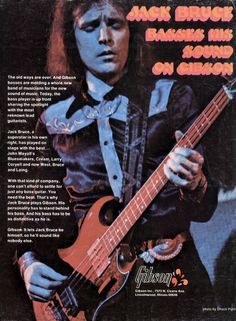 Jack Bruce - Gibson EB 3 Bass Ad