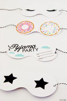 Pyjama Party Einladung, Sleepover Einladung, Pyjama Party Einladen,  Schlafsack Einladung Pyjama Party Girls, Heiße Rosa Einladen | Parties, ...