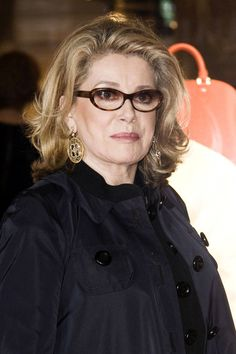 the color and pretty long layers with mild curls -- lovely: Catherine Deneuve Photos: The Maison Rome Etoile Louis Vuitton Event