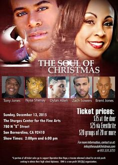 RT #SANBERNARDINO #ONTARIO Hit Play #TheSoulofChristmas THIS SUN at #sturgescenter http://conta.cc/1Y5nDCs