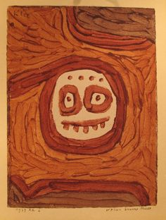Paul Klee - weiss-braune Maske Masque blanc et brun , 1939 William Turner, Tristan Tzara, Paul Klee Art, Fine Art Prints, Framed Prints, Cubism, Oeuvre D'art, Giclee Print, Modern Art