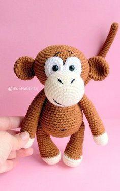 Amigurumi Monkey Crochet Pattern Roundup! - AmVaBe Crochet Diy Doll Pattern, Crochet Monkey Pattern, Crochet Patterns Amigurumi, Amigurumi Doll, Crochet Toys, Free Pattern, Magic Ring Crochet, Yarn Tail, Single Crochet Stitch