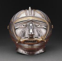 Close Helmet with Mask Visor, Attributed to Kolman Helmschmid  (German, Augsburg, 1471–1532), c. 1515