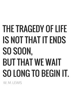The tragedy of life...L.Loe