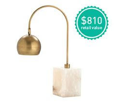 Win this chic AllModern marble & brass lamp featured in the office @Homepolish designed for @Kelly Oxford