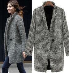 White and black jacket Jacket with single button closure Jackets & Coats