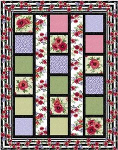 Line Dance Quilt Pattern Download by Grizzly Gulch Gallery available  now at connectingthreads.com for just $9.00 »