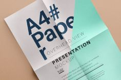 A new psd overhead A4 mock-up with attractive fold creases for added depth. Use the smart layer to showcase your stationery...