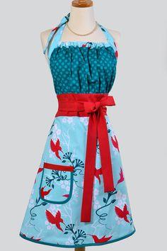 Cute Kitsch Apron / Custom Listing for Sophia by CreativeChics
