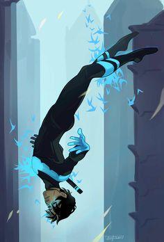 Free Flying. Nightwing. Dick Grayson. <3