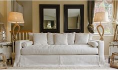 Elements Haley Sofa Fabric Collection in Seashell