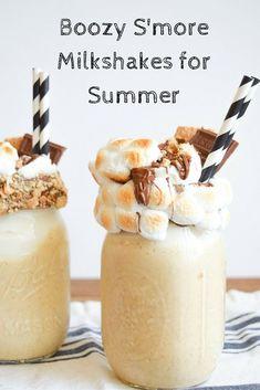 The Perfect Boozy S'more Milkshake for Summer!