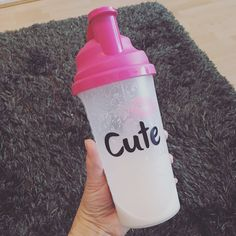 Started my cute nutrition vanilla shake today! I either have it for lunch or brekkie on the go when I normally skip a meal or grab something on the go which is normally unhealthy