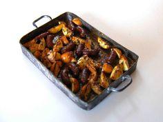 Miniature roasted vegetables and chicken #minifood
