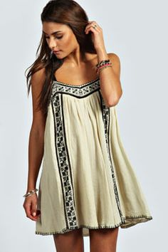 Joanne Embroidered Hippy Swing Dress
