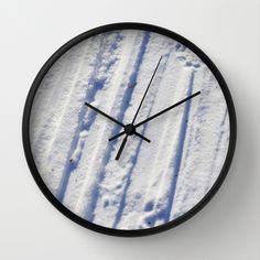 Snøspor Wall Clock by lisnas Wall Clock Frame, Unique Wall Clocks, Natural Wood, Crystals, Store, Storage, Crystals Minerals, Shop, Crystal