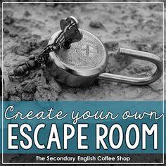 Create Your Own Escape Room - The Secondary English Coffee Shop Escape The Classroom, Escape Room For Kids, High School Classroom, English Classroom, English Teachers, Escape Room Design, 9th Grade English, English Center, Classroom Activities