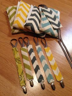 DIY Baby Gifts that I made for friends baby showers; pacifier clips, door jammer, & burp cloths (Amanda Sadler)