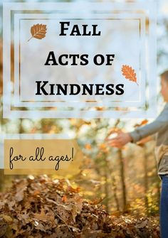 Fall Acts of Kindness from P is for Preschooler