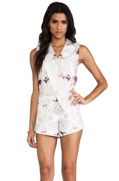 Finders Keepers Rising Sun Playsuit In Rose Print