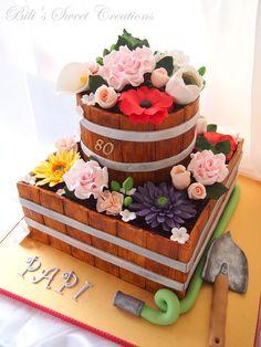 Flower pot cake on Cake Central