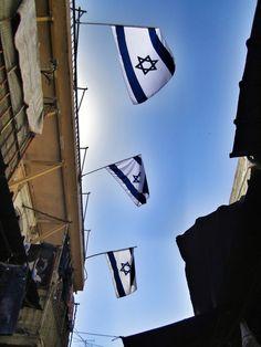 Flags in Jerusalem, Israel Palestine, Jerusalem Israel, Holy Land, North Africa, Israel Trip, Shabbat Shalom, Promised Land, Anne Frank, Judaism
