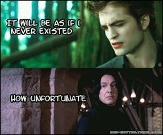 Yessss. Harry Potter vs. Twilight.