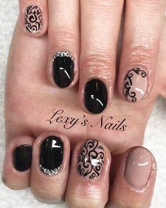 Prom nails, black nails